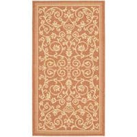 Safavieh Resorts Scrollwork Terracotta/ Natural Indoor/ Outdoor Rug - 2' x 3'7