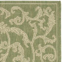 "Safavieh Mayaguana Olive Green/ Natural Indoor/ Outdoor Rug (2' x 3'7"") - Thumbnail 1"