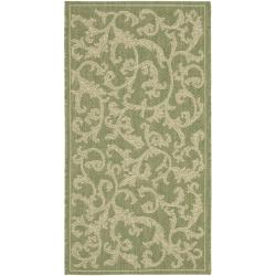 "Safavieh Mayaguana Olive Green/ Natural Indoor/ Outdoor Rug (2' x 3'7"")"