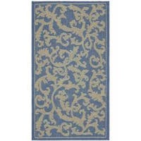 Safavieh Mayaguana Blue/ Natural Indoor/ Outdoor Rug - 2' x 3'7