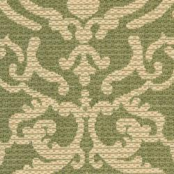 Safavieh Bimini Damask Olive Green/ Natural Indoor/ Outdoor Rug (2' x 3'7)