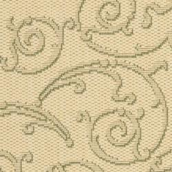 Safavieh Oasis Scrollwork Natural/ Olive Green Indoor/ Outdoor Rug (2' x 3'7) - Thumbnail 2