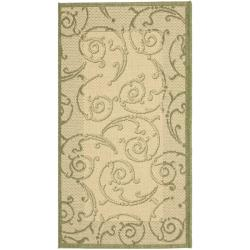 Safavieh Poolside Natural/ Olive Indoor/ Outdoor Rug (2' x 3'7)