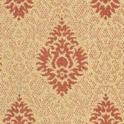 Safavieh St. Barts Damask Natural/ Red Indoor/ Outdoor Rug (2' x 3'7) - Thumbnail 2