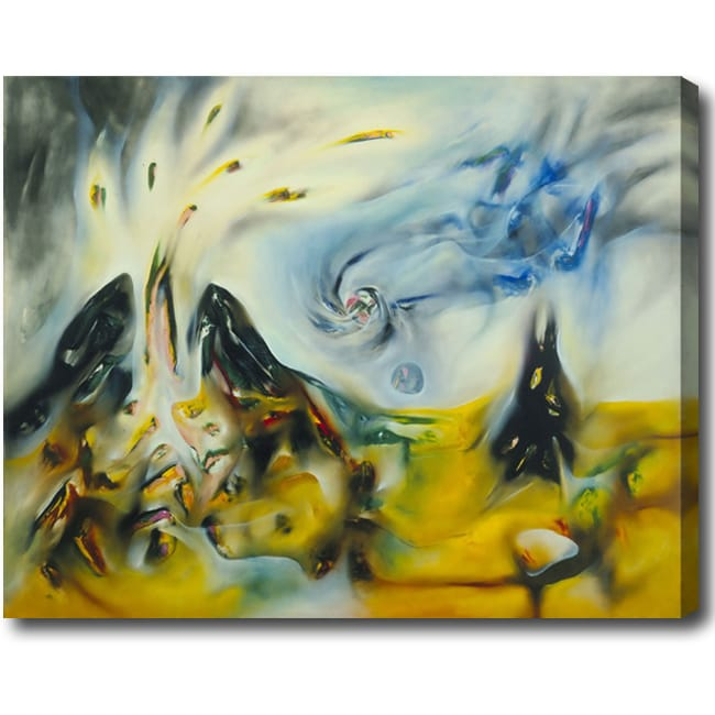 'Volcano' Abstract Oil on Canvas Art