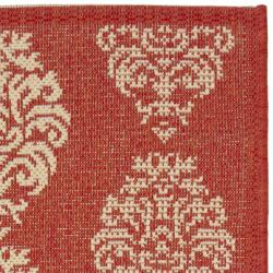 Safavieh St. Martin Damask Red/ Natural Indoor/ Outdoor Rug (2' x 3'7) - Thumbnail 1