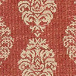 Safavieh St. Martin Damask Red/ Natural Indoor/ Outdoor Rug (2' x 3'7) - Thumbnail 2