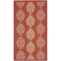 Safavieh St. Martin Damask Red/ Natural Indoor/ Outdoor Rug (2' x 3'7)
