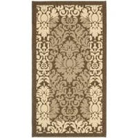 Safavieh Kaii Damask Brown/ Natural Indoor/ Outdoor Rug - 2' x 3'7