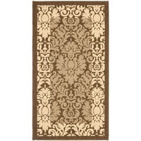 Safavieh Kaii Damask Brown/ Natural Indoor/ Outdoor Rug - 2' x 3'-7""