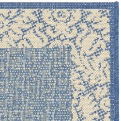 Safavieh Kaii Damask Blue/ Natural Accent Indoor/ Outdoor Rug (2' x 3'7) - Thumbnail 1