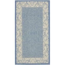 Safavieh Kaii Damask Blue/ Natural Accent Indoor/ Outdoor Rug (2' x 3'7)