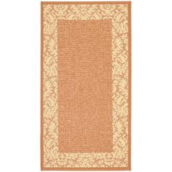 "Safavieh Poolside Terracotta/Natural Indoor/Outdoor Floral Rug (2' x 3'7"")"