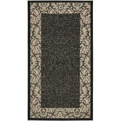 Safavieh Poolside Black/ Sand Indoor/ Outdoor Rug (2' x 3'7)