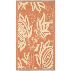 Safavieh Poolside Terracotta/ Natural Indoor/ Outdoor Power-loomed Rug (2' x 3'7)