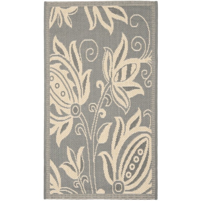 Safavieh Andros Grey/ Natural Indoor/ Outdoor Rug (2' x 3'7)