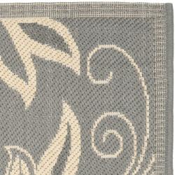 Safavieh Andros Grey/ Natural Indoor/ Outdoor Rug (2' x 3'7) - Thumbnail 1