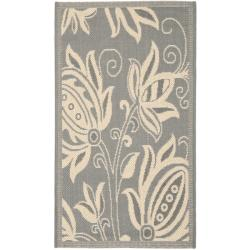 Safavieh Poolside Grey/ Natural Indoor/ Outdoor Rug (2' x 3'7)