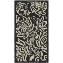 "Safavieh Andros Black/ Sand Indoor/ Outdoor Rug (2' x 3'7"")"