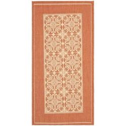 Safavieh Poolside Natural/ Terracotta Indoor/ Outdoor Rug (2' x 3'7)