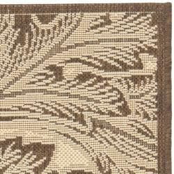 Safavieh Acklins Natural/ Chocolate Indoor/ Outdoor Rug (2' x 3'7) - Thumbnail 1