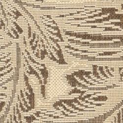 Safavieh Acklins Natural/ Chocolate Indoor/ Outdoor Rug (2' x 3'7) - Thumbnail 2