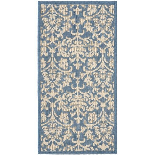 Safavieh Seaview Blue/ Natural Indoor/ Outdoor Rug (2' x 3'7)
