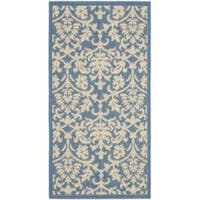Safavieh Seaview Blue/ Natural Indoor/ Outdoor Rug - 2' x 3'7