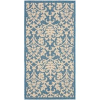 Safavieh Seaview Blue/ Natural Indoor/ Outdoor Rug - 2' x 3'7""
