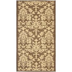 "Safavieh Seaview Chocolate/ Natural Indoor/ Outdoor Rug (2' x 3'7"")"