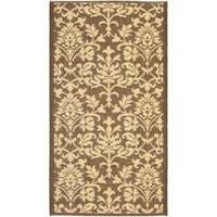 Safavieh Seaview Chocolate/ Natural Indoor/ Outdoor Rug - 2' x 3'7