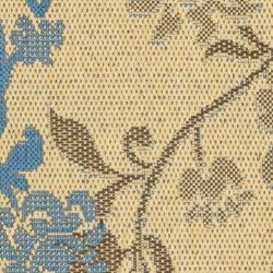 Safavieh Courtyard Floral Natural Brown/ Blue Indoor/ Outdoor Rug (2'7 x 5') - Thumbnail 2