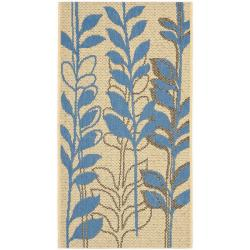 Safavieh Poolside Natural/ Blue Indoor/ Outdoor Rug (2' x 3'7)