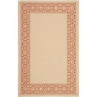 Safavieh Courtyard Cream/ Terracotta Indoor/ Outdoor Rug - 8' x 11'2