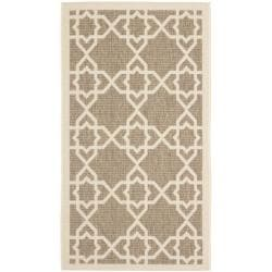 Safavieh Courtyard Geometric Trellis Brown/ Beige Indoor/ Outdoor Rug (2' x 3'7)