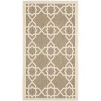 Safavieh Courtyard Geometric Trellis Brown/ Beige Indoor/ Outdoor Rug - 2' x 3'7