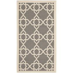 Safavieh Courtyard Geometric Trellis Grey/ Beige Indoor/ Outdoor Rug (2' x 3'7)
