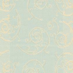 Safavieh Courtyard Scrollwork Aqua/ Cream Indoor/ Outdoor Rug (2' 3 x 6' 7 ) - Thumbnail 2