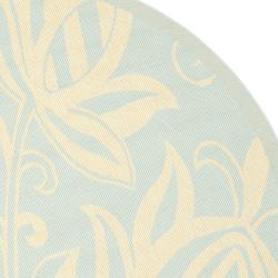 Safavieh Courtyard Bloom Aqua/ Cream Indoor/ Outdoor Rug (6'7 Round) - Thumbnail 1