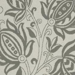Safavieh Courtyard Bloom Light Grey/ Anthracite Indoor/ Outdoor Rug (2'7 x 5') - Thumbnail 2