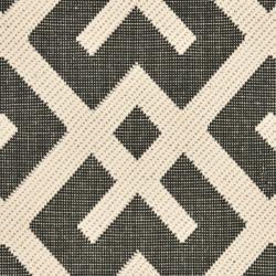 "Safavieh Courtyard Contemporary Black/ Beige Indoor/ Outdoor Rug (2' x 3'7"") - Thumbnail 2"