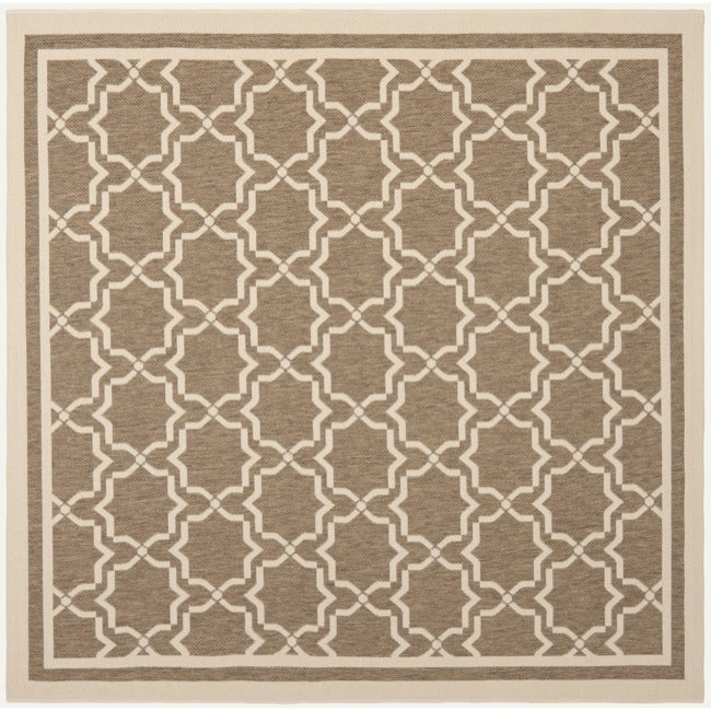 Safavieh Courtyard Poolside Brown/ Bone Indoor/ Outdoor Rug (6u0026#39;7 Square) - Free Shipping Today ...