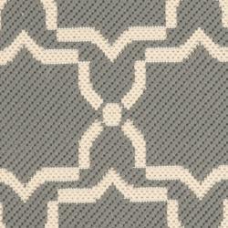 Safavieh Courtyard Poolside Dark Grey/ Beige Indoor/ Outdoor Rug (2' x 3'7) - Thumbnail 2