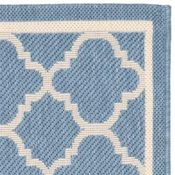"Safavieh Poolside Blue/Beige Indoor/Outdoor Polypropylene Rug (2' x 3'7"")"