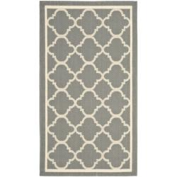 Safavieh Poolside Grey/ Beige Indoor/ Outdoor Rug (2' x 3'7)