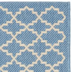 Safavieh Poolside Blue/ Beige Indoor/ Outdoor Rug (2' x 3'7) - Thumbnail 1