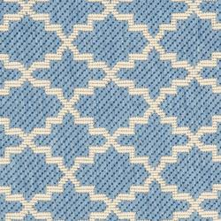 Safavieh Poolside Blue/ Beige Indoor/ Outdoor Rug (2' x 3'7) - Thumbnail 2