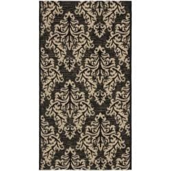 Safavieh Poolside Black/ Cream Indoor/ Outdoor Rug (2' x 3'7)