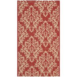 Safavieh Poolside Red/ Cream Indoor/ Outdoor Rug (2' x 3'7)
