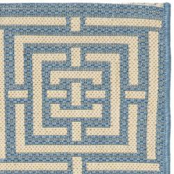 Safavieh Poolside Blue/ Bone Indoor/ Outdoor Rug (2' x 3'7) - Thumbnail 1